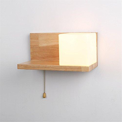 HRCxue Bañadores de pared Led lámpara de pared nórdica interior minimalista moderna de un solo lado luminoso cuadrado impermeable lámpara de pared única de un hotel al aire libre preservativo