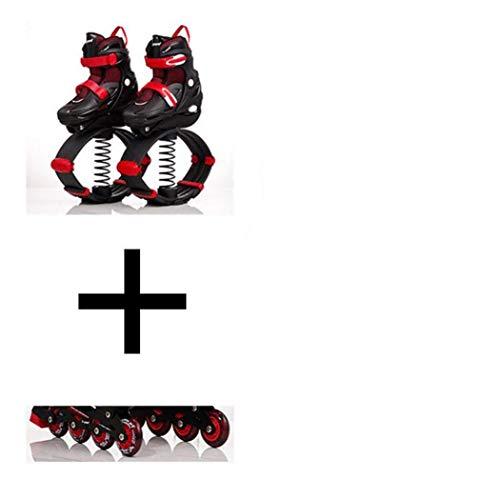 WYJW Zapatos de Salto de Canguro al Aire Libre para niños, Zapatillas de Salto para Adelgazar, Zapatos de Fitness, Zapatos de tonificación, Zapatillas Deportivas EUR 30-42 60 kg