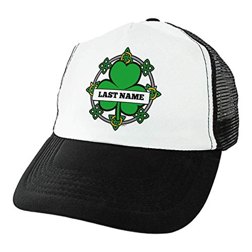 St Patricks Day Accessories Your Text Celtic Knot Green Lucky Shamrock Hat Personalized Trucker Hat