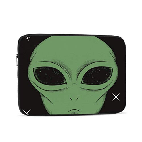 Mac Book Covers Face Green Alien Isolated On Black Cover for MacBook Air Multi-Color & Size Choices 10/12/13/15/17 Inch Computer Tablet Briefcase Carrying Bag