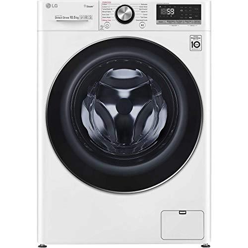 LG F4V710WTS 10.5kg 1400rpm AI DD Freestanding Washing Machine With TurboWash 360 & Steam - White