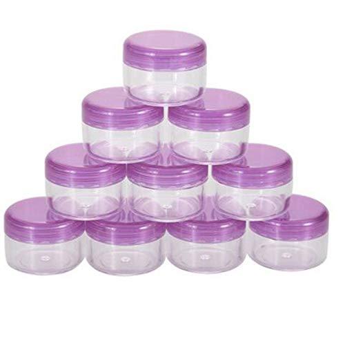 10pcs 5g/ML Vide cosmétique Pots de récipient de cosmétiques Pots de Plastique Transparent en Plastique pour crèmes, échantillon, Stockage de Paillettes