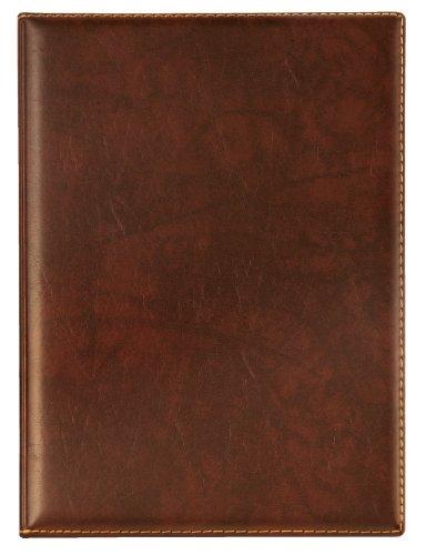 Veloflex 4441760 Urkunden-Mappe, Angebots-Mappe Exquisit DIN A4 mit Innen- Klarsichttaschen, Leder-Optik braun