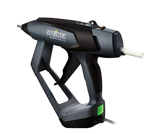 Steinel 035297 Profi-Klebepistole GluePRO 400 mit LED/ LCD Display, elektronisch geregelte Heißklebepistole, Klebemenge einstellbar, wechselbare Düsen, Aufhängemöglichkeit