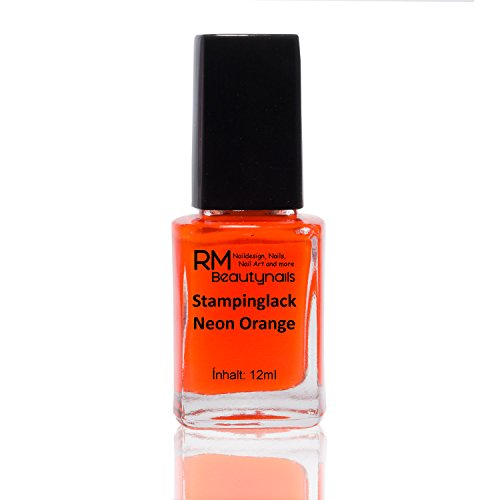 Stampinglack Neon Orange 12ml Stamping Lack Nagellack Nail Polish RM Beautynails