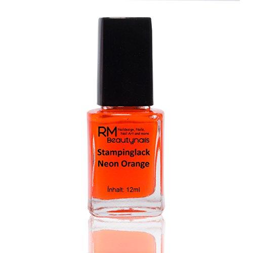 Stampinglack Neon Orange 12ml Stamping Lack Nagellack Nail Polish RM Beautynails