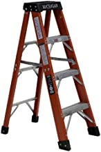 product image for Michigan Ladder 3720-04 375 Pound Duty Rating Type 1AA Fiberglass Stepladder, 4-Foot