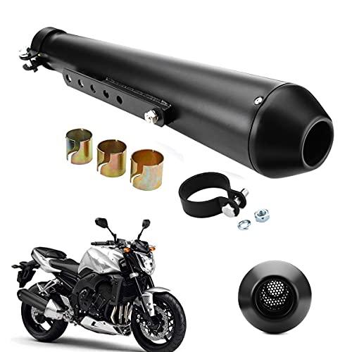 Motorcycle Exhaust Muffler, 1.5-2' Inlet Universal Exhaust Muffler Stainless Steel Motorcycle...