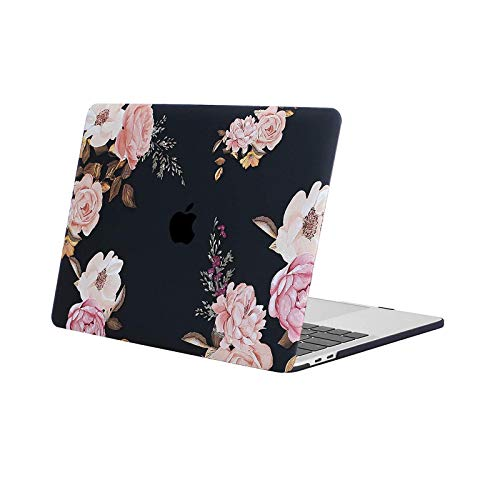 MOSISO MacBook Pro 13 inch Case M1 2016-2020 Release A2338 A2289 A2251 A2159 A1989 A1706 A1708, Plastic Pattern Hard Case Shell Cover Compatible with MacBook Pro 13 inch, Pink Peony