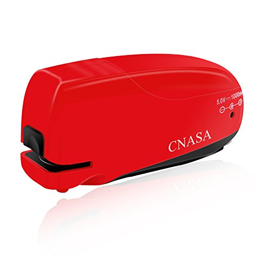 Electric Stapler, Automatic Electric Mini Stapler AC USB Powered with Staples Remover, Use Standard Staples for Home, Office, Classroom and School,Red