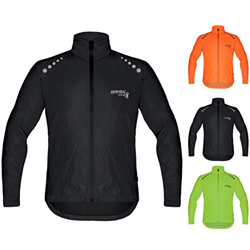 Brisk Bike Ultra-Light Weight Rain Jacket for Cycling