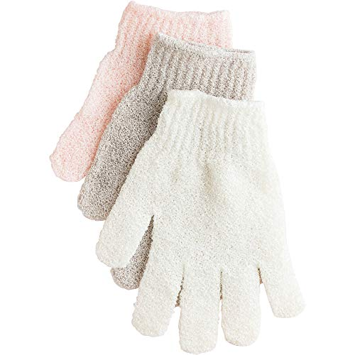 Urbana Exfoliating Gloves for Shower, Bath, and Cleansing – Assorted Colors, 1 Pair