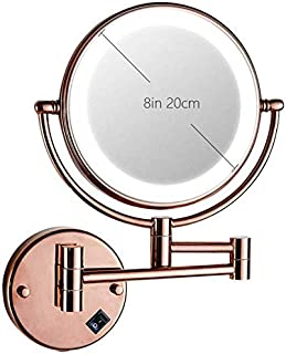 Vanity Mirror 360°Rotation Dual Sided USB Makeup Mirror LED Light 3X Magnification Bathroom Accessories for Shaving Lipstick Contact Lenses Beauty Tools OO (Color : E) (Color : C)