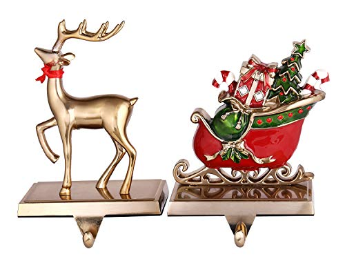 Reindeer Christmas Stocking Holders for Mantel