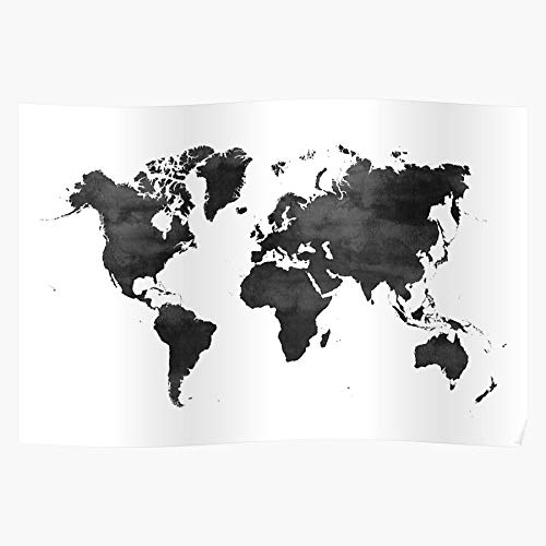 Generic and World Black White Wold Art Maps Map Home Decor Wandkunst drucken Poster !