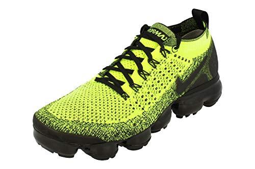 Nike Air Vapormax Flyknit 2 Hommes Running Trainers 942842 Sneakers Chaussures (UK 7.5 US 8.5 EU 42, Volt Black Volt 701)