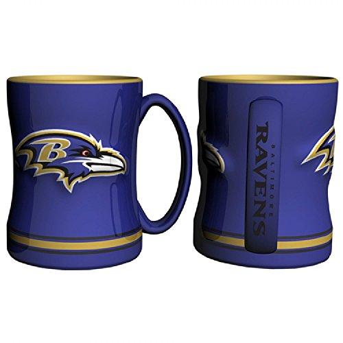 Baltimore Ravens 15 Ounce Sculpted Logo Relief Coffee Mug