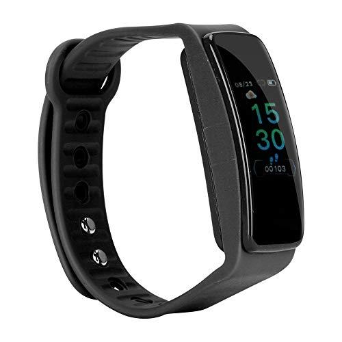 Da Dini Pantalla Táctil Deportes Smart Pulsera Silicone Muñeca Banda Mira Salud Y Fitness Tracker Reloj Monitor De Ritmo Cardíaco Tlwb4 (Negro)