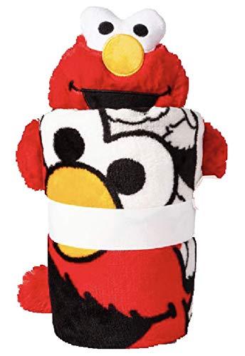 Elmo Character Pillow Toy Plush Throw Set