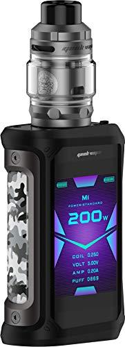 GeekVape Aegis X 200 Watt + Z Subohm 5ml Tank im E Zigarette Set - Farbe: gunmetal-camouflage