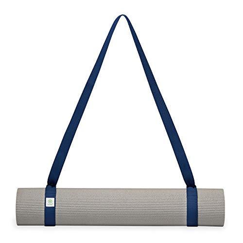 Gaiam Easy-Cinch Yoga Mat Sling, Navy, 1 Count