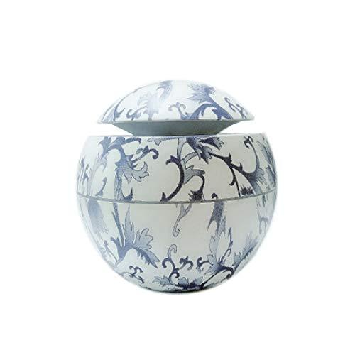 SUNHAO Humidificateur Creative Voiture Bleue et Blanche en Porcelaine pour la Maison, Mini USB Humidifie