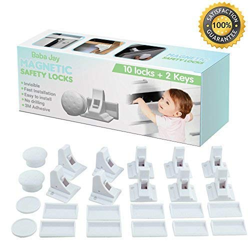 Magnetic Child Safety Locks for Cupboards and Drawers - 10 Locks 2...