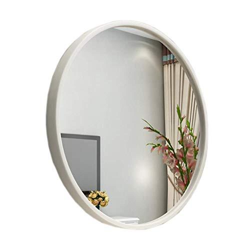 Zhaojyz Household Nood/Nordic badkamerspiegel/metalen frame decoratief rond/badkamerspiegel ronde spiegel/slaapkamer make-uptafel/spiegel zilver