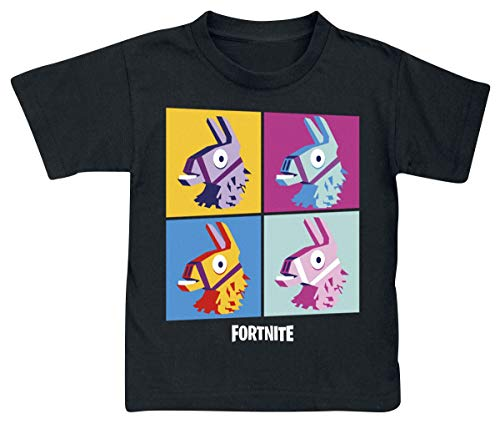 Fortnite Camiseta para Niños (14 años, Black Print)