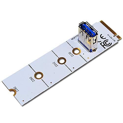 Luntus Tarjeta Adaptadora NGFF M.2 una PCI-E X16 Ranura NGFF Tarjeta Adaptadora de ExtensióN de GráFicos USB3.0