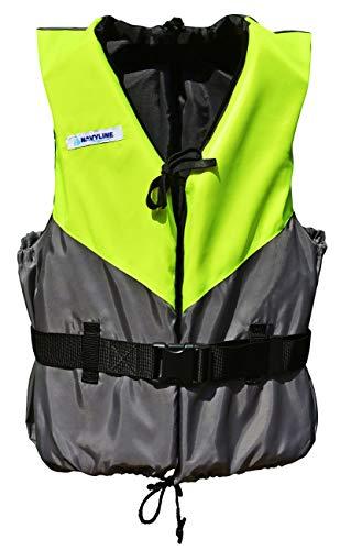 Navyline 50N Schwimmweste Damen Herren, Größe:30-50kg, Farbe:gelb/grau