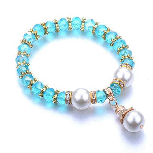 Jewellery Bracelets Bangle For Womens Fashion Bracelet Couples Ball Pendant Stone Yoga Bracelet Women Jewel-Gold-Color