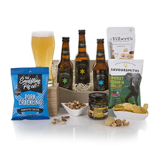 Christmas Craft Beer and Snacks Hamper - Xmas Beer Gifts and Hampers - Christmas Beer Hamper