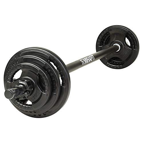Mirafit Black 20kg Studio Pump Set - For Aerobic Weights Exercise