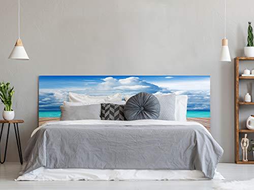 Cabecero Cama PVC Impresión Digital Agua Cristalina 150 x 60 cm | Disponible en Varias Medidas | Cabecero Ligero, Elegante, Resistente y Económico