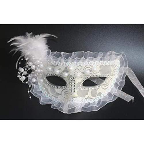 HUOQILIN Halloween bal prinses masker kant partij half gezicht masker Veer half gezicht