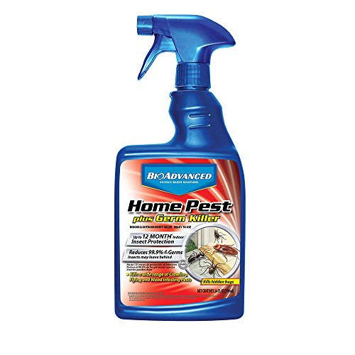 Price comparison product image BioAdvanced 700460A Home Pest Plus Germ Killer,  Pest Control,  Bug Spray for Home,  for Indoor and Outdoor,  24-Ounce,  Ready-to-Use