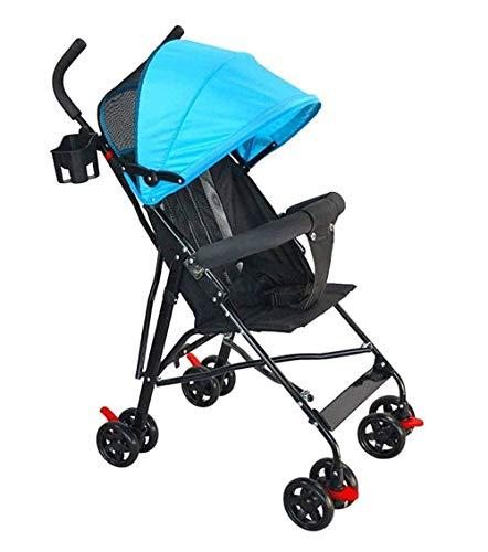SMSOM Viaje de la muñeca Silla de Paseo con Cesta, Cochecito Plegable for niños pequeños, Convertible Cochecito del Cochecito de niño de Lujo (Color : Blue)
