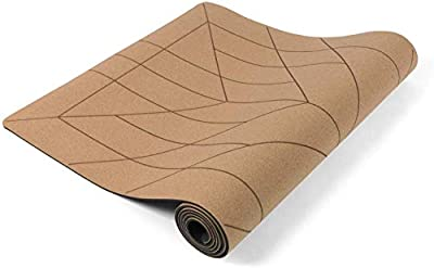 Lotuscrafts Cork Yoga Mat - Non-Slip Sweatproof Surface - 100% Recycleable Materials - Non Slip Yoga Mat Eco Friendly - Made of Cork & TPE - Ideal for Hot Yoga - Very Light