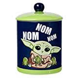 Silver Buffalo Star Wars Mandalorian Nom Frogs Large Canister Ceramic Cookie Jar, blue/green (SWM539EG)