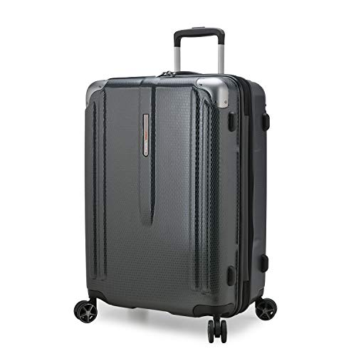 Traveler's Choice New London II Hardside Expandable Spinner Luggage, Gray, Carry-on 22-Inch