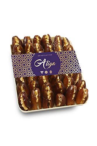 Aliya gefüllte Deglet Nour Datteln 400g | mit kalifornischen Walnusskernen | Premium Qualität | ungezuckert und ungeschwefelt | natürlich sonnengetrocknet | saftig und süss | HALAL