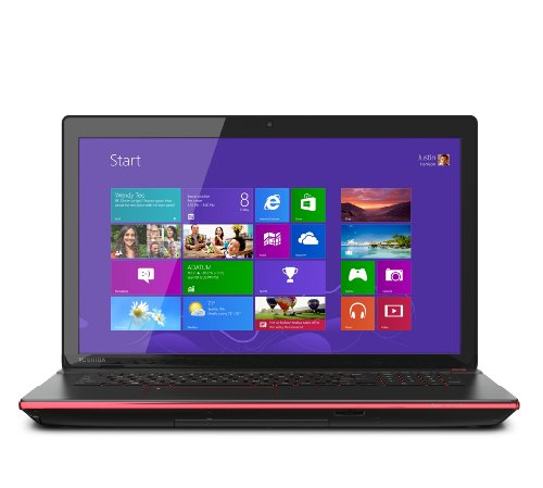 Toshiba Qosmio X75-A7295 17.3-Inch Laptop (2.40 GHz Intel Core i7-4700M Processor, 16 GB DIMM, 1 TB HDD, Windows 8) Black Widow Styling in Textured Aluminum