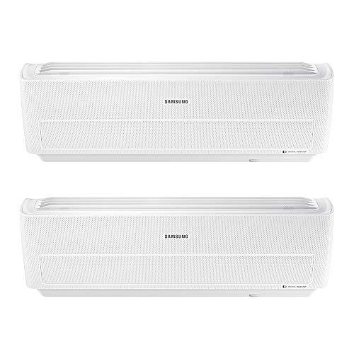 Samsung Clima AR09RXWXCWKNEU+AR12RXWXCWKNEU+AJ040NCJ2EG/EU WindFree Comfort Dual Split Climatizzatore, 2019, Wi-Fi, 9000+12000 BTU, Bianco