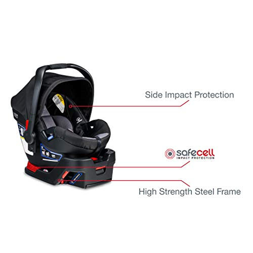 Britax USA B-Lively Travel System with B-Safe 35 Infant Car Seat, Ashton - Birth to 55 pounds [Amazon Exclusive]