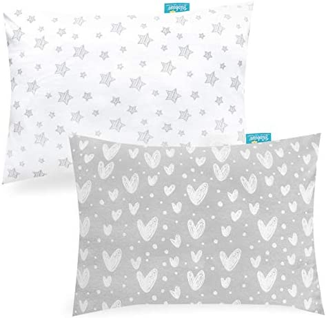Baby Toddler Pillowcase 2 Pack 100 Jersey Cotton Ultra Soft Baby Kids Pillowcase for Sleeping product image