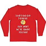 lepni.me Camiseta para Niños Escuadrón de Cumpleaños de Cuarentena Incluso Separados Estamos Juntos (9-11 Years Rojo Multicolor)