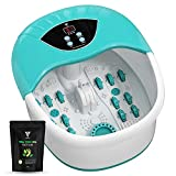 Original 5 in 1 Foot Spa Massager with Tea Tree Foot Soak Salt with Heat, Bubbles and Vibr...