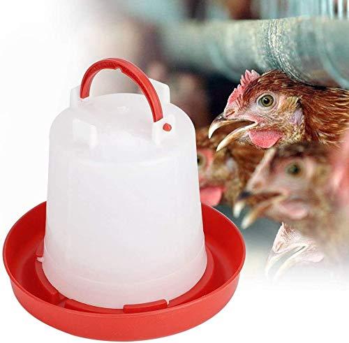 alimentaci/ón y riego para mascotas con mango para p/ájaros y patos de cola 1 bebedero de pl/ástico para gallinas aves de corral 1,5 L