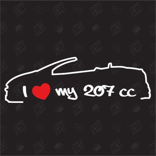 speedwerk-motorwear I Love My 207 CC - Sticker für Peugeot - Bj. 2006-2012